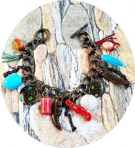 bratara antichizata tribala multicolor