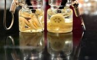 Cercei borcanas cu limonada- banane