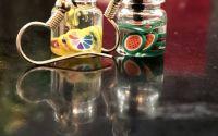 Cercei borcanas cu limonada- multicolor