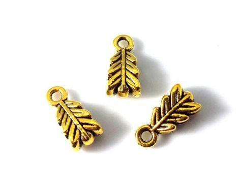 Agatatoare pandantiv metalica auriu antichizat