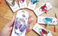 Brosa fluture - Martisor din piele