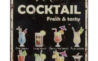 Tablou din metal cu cocktailuri