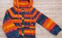 Cardigan pulover cu gluga