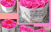 Realizez cutii cu trandafiri de sapun