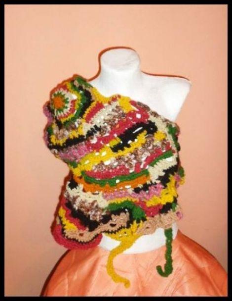 esarfa batic lana naturala sal femei