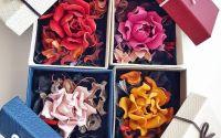 Brosa trandafir din piele naturala