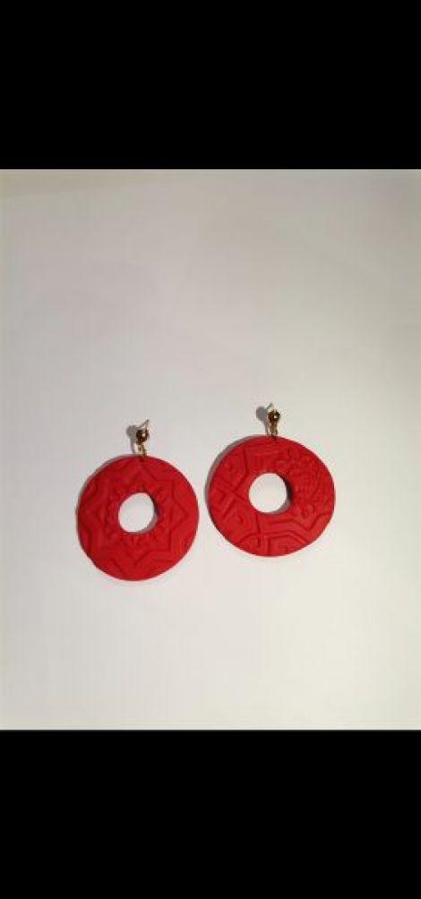 Cercei Ruby Red - cercuri