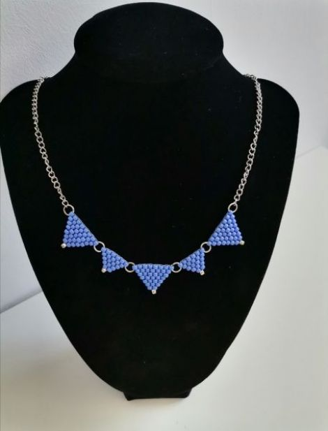 Colier Triunghiuri - navy blue