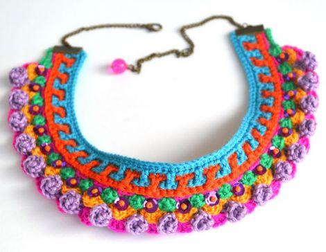 Colier aztec purple