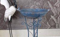 Suport pentru ghiveci din fier forjat antik blue
