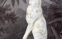 Statueta din rasini cu un iepure