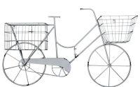 Bicicleta din fier forjat antik white
