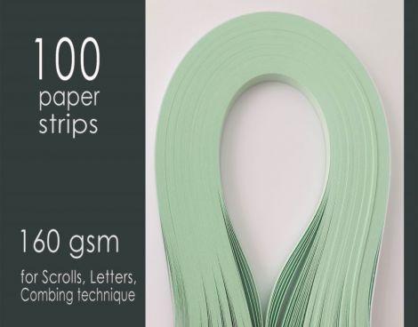 Carton quilling Verde 160 gsm 5 mm X26