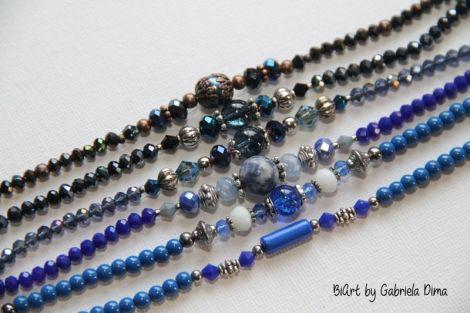 Bratari margele - albastru-navy