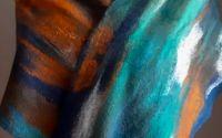 esarfa din lana impaslita