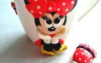 Cana fimo Minnie Mouse