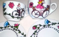 Set cafea biciclisti