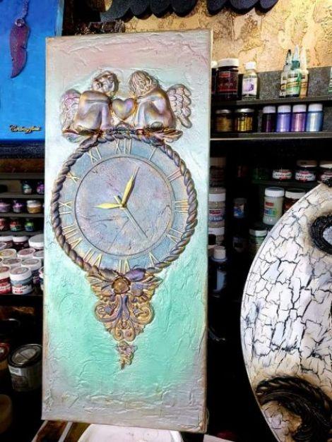 Tablou canvas  - ceas ingeri