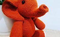 Jucarie crosetata elefantel