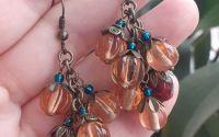 Cercei ciorchini sticla vintage Berries