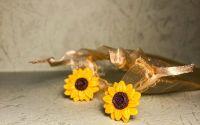 Floarea-soarelui - cercei tinta