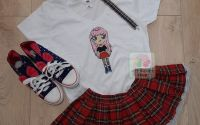 "Tricou ""Rocker Girl"" pictat manual"
