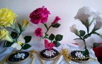 Trandafiri din hartie floristica