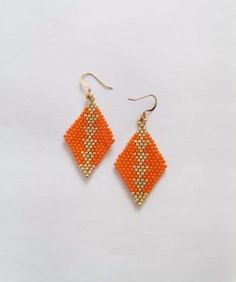 Cercei Beatrix - portocaliu