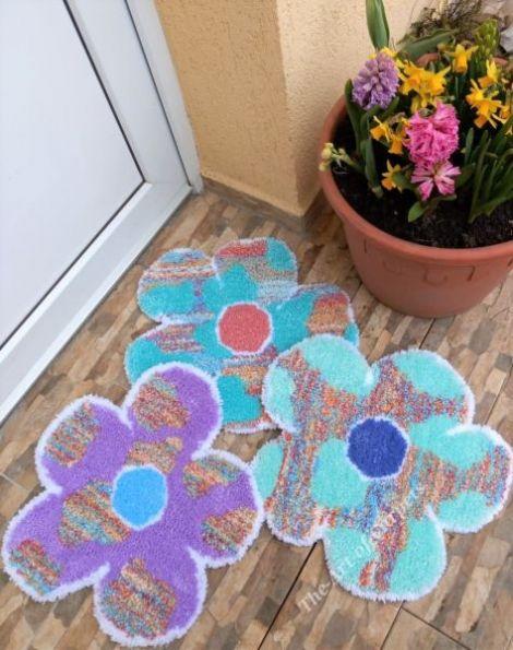 Covorase decorative FLORI 3 pcs
