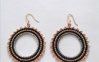 Cercei Hoops - red gold