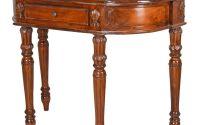 Consola din lemn mahon cu decoratiuni deosebite