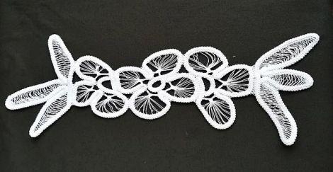 mileu alb crosetat manual laseta  39 cm