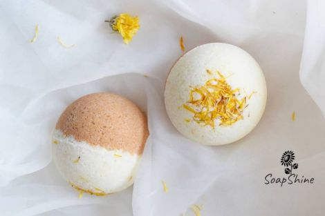 Bath bombs Galbenele Orange
