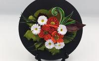 Tablou Quilling-Flori de maci si margarete