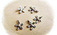 charm argintiu floare 10 mm