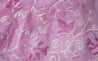 set cupoane material roz brodat