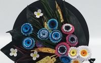 Tablou Quilling-Buchet cu albastrele