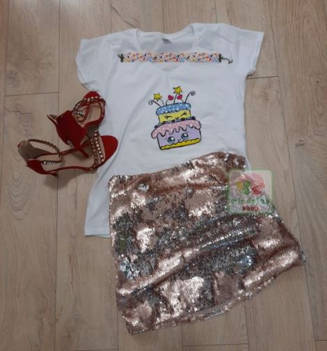 "Tricou ""Birthday Cake"" pictat manual"