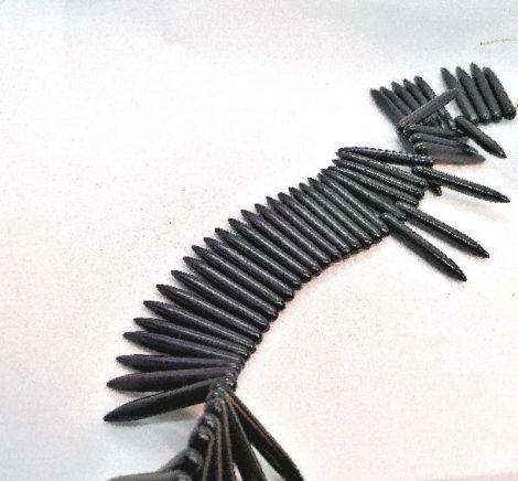 Tepuse tepi colti howlit sinteza  3435mm negru