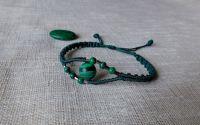 Bratara verde cu piatra malachit.