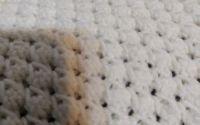 Paturica pt. bebe din fir pufos 70x75 cm