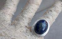 Inel artizanal cu lapis lazuli natural mar 55