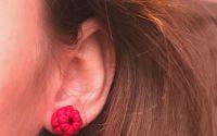 Zmeura rosie- cercei cu tinta