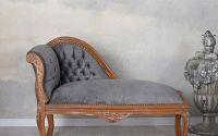 Sofa din lemn mahon cu tapiterie gri soarece