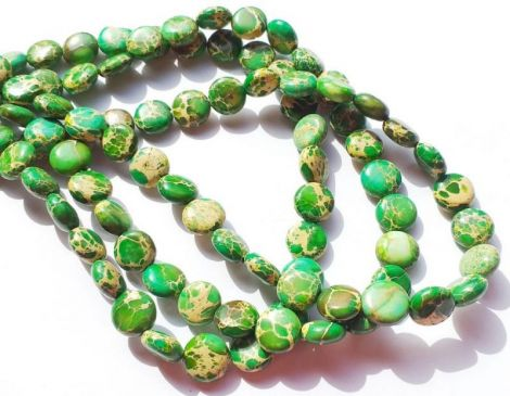 Banut regalit Jasp imperial verde 10 x 5 mm