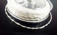 Lant argintiu deschis zale 2.5 x 1.7 mm