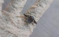 Inel artizanal din argint cu cuart turmalinat