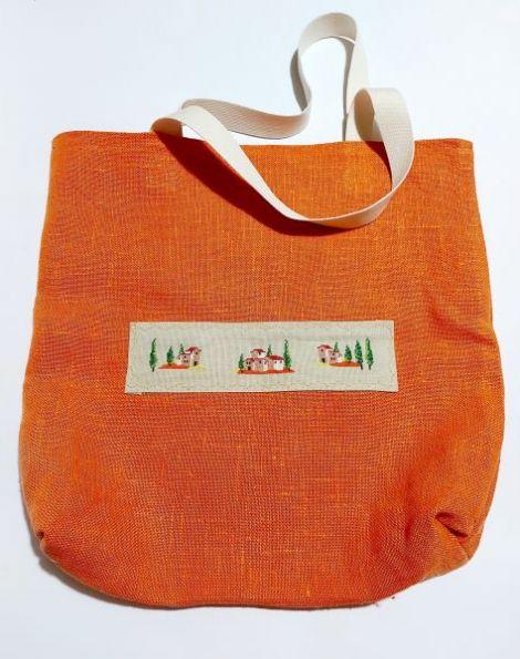 Shopping bag portocaliu