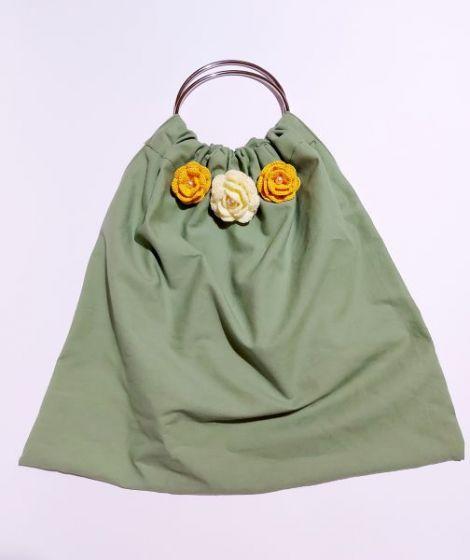 Geanta textila verde