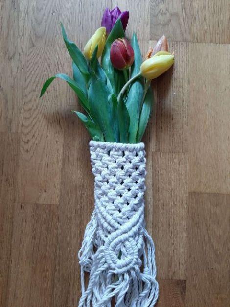 Decor buchet de flori Macrame